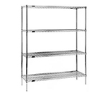 "Eagle Group 2460C74-X Wire Shelving Unit - (4) 24x60"" Shelves, (4) 74"" Posts, Chrome Finish"