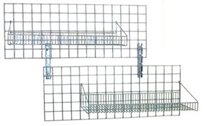 Eagle Group 1430WGS-Z Wall Grid Shelving For Zinc Modular Wall - Green Finish, 14x30