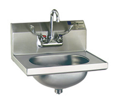 """Eagle Group HSA-10-FW-1X Wall-Mount Hand Sink - Splash-Mount Faucet, 14.75x18.87x12.75"""", Stainless"""