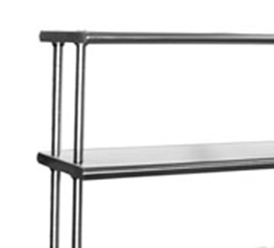 "Eagle Group 421230-X Table Mount Overshelf, 12""x2.5-ft, 16/304 Steel"