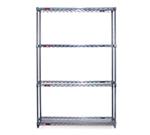 "Eagle Group S4-74-2448C Wire Shelving Starter Unit - (4) 24x48"" Shelf, 74"" Post, Chrome"