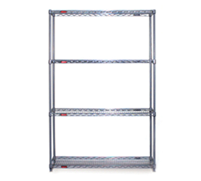 "Eagle Group S4-74-2472E-X Wire Shelving Starter Unit - (4) 24x72"" Shelf, 74"" Post, M"
