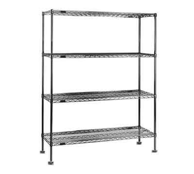 "Eagle Group SA1848C 48x18"" Seismic Wire Shelving - Chrome-Plated Finish"
