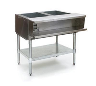 """Eagle Group AWT2-NG-1X 33"""" Water Bath Hot Food Table - 2-Openings & Cutting Board, NG"""