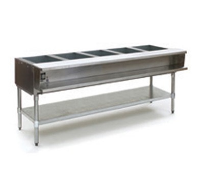 "Eagle Group AWT5-NG-1X 79"" Water Bath Hot Food Table - (5) 12x20"" Openings, NG"