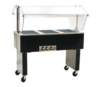"Eagle Group BPDHT4-120-X 63.5"" Portable Buffet Hot Food Table - 4-Wells & Sneeze Guard, 120v"