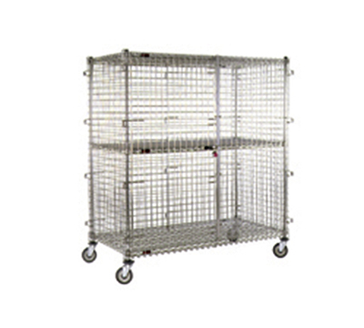 Eagle Group CSC3036 Mobile Security Unit - Chrome Finish, 33.25x39.25x69