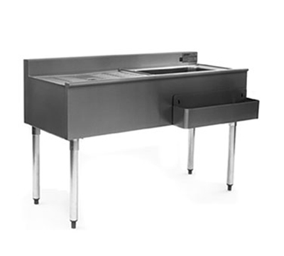 Eagle Group CWS4-18L Underbar Cocktail Unit -75-lb Capacity, Ice Bin (L), Drainboard (R), 48x20
