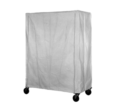 Eagle Group CV-86-2448 White Polyester Cart Cover - Velcro Fastener, 24x48x86