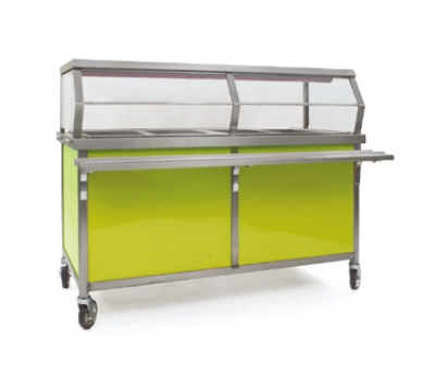 """Eagle Group DCS4-HFU-B 64"""" Hot Food Table - 2""""sulated Wells, Thermostatic Controls, 208v"""