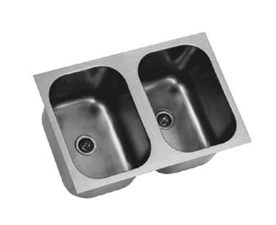 Eagle Group FDI-22-22-13.5-2 Drop-In Sink Bowl - 2-Compartment, 18-ga Stainless, 22x22x13.5