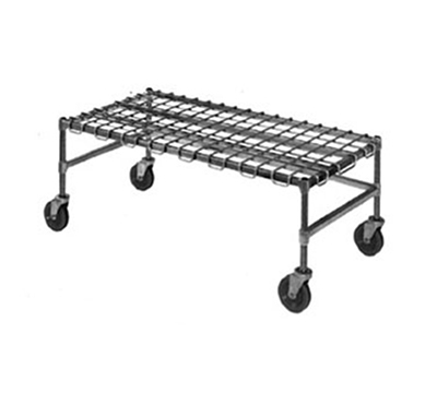 "Eagle Group MDR1860-E Mobile Dunnage Rack - 18x60"" 4-Sided Frame, Green Antimicrobial Finish"