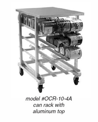 Eagle Group OCR-10-4AP-X Half-Size Can Rack - (72) #10 & (96) #5-Can Capacity, Mobile
