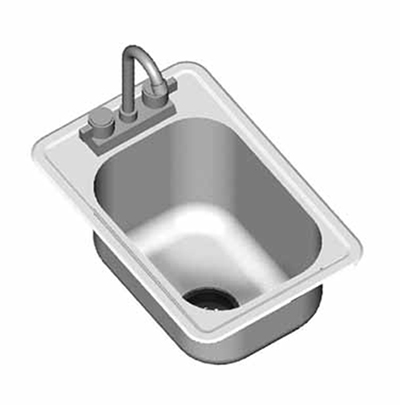"""Eagle Group SR22-22-13.5-1 Drop-In Sink Bowl - (1) 22x22x13.5"""" Bow"""