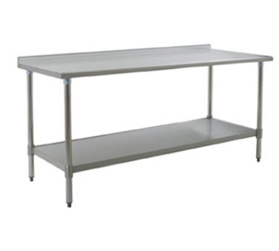 "Eagle Group T3072SE 72x30"" Work Table - 14/304 Top, 18-Gauge Stainless Undershelf"