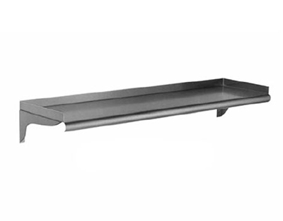 "Eagle Group WS1072-16/4 10x72"" 16/430 Stainless Wall-Mount Shelf"