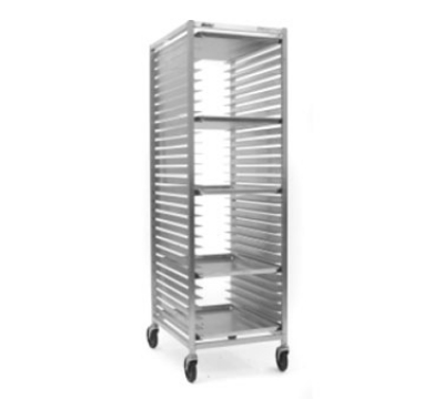 "Eagle Group OUR-1820-3/W-X Full Height Mobile Utility Rack For (20) 18x26"" Trays, Aluminum"