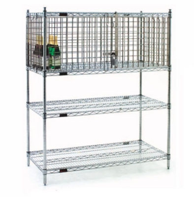 "Eagle Group SECM1848Z-X 18x48"" Security Module - Hinged Door, Shelf & Post Separate, Zinc"