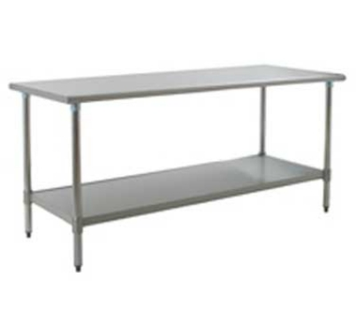 "Eagle Group T3060SB-X 60x30"" Work Table - 16/430 Top, Splash, 18-Gauge Stainless Undershelf"