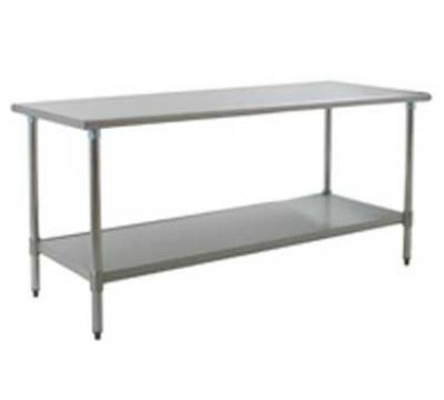"Eagle Group T3084SB-X 84x30"" Work Table - 16/430 Top, 18-Gauge Stainless Undershelf"