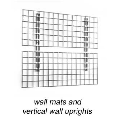 "Eagle Group WM1836-X 18x36"" Wall Mat - Zinc-Plated Grid, 3x3"" Opening"