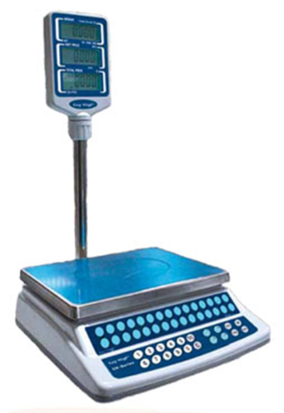 Fleetwood CK-P60PLUS Price Computing Scale w/ 60-lb Capacity, LCD, 11-4/5 x 8-2/3-in Platter