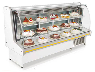 Fleetwood GBVC-125B 49-in Refrigerated Curved Glass Bakery Case w/ Manual Defrost, 110 V