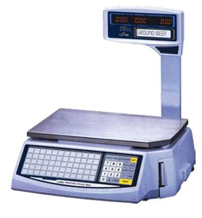 Fleetwood LS-100 60-lb Dual Range Printing Price Computing Scale w/ 1000 PLU Memory