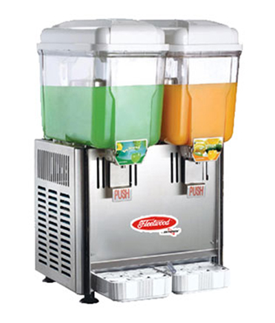 Fleetwood SL003-2P Twin Cold Beverage Dispenser w/ (2) 3-Gal Capacity, Stainless Valves