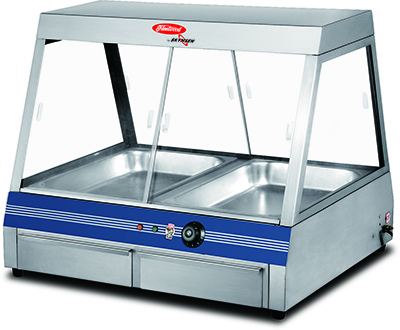 Fleetwood FWD1-2P Single Shelf Food Warmer Display Case