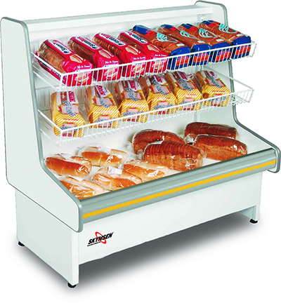 Fleetwood MVNP-118BT Self Serve Non-Refrigerated Display Case