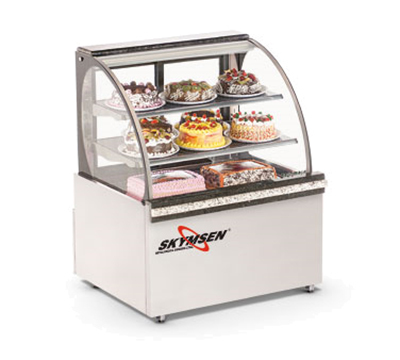 Fleetwood RBC39 120V 39-in Refrigerated Curved Glass Bakery Case, 120v