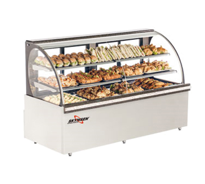 Fleetwood RBC59 120V 59-in Curved Glass Refrigerated Bakery Case, 120v