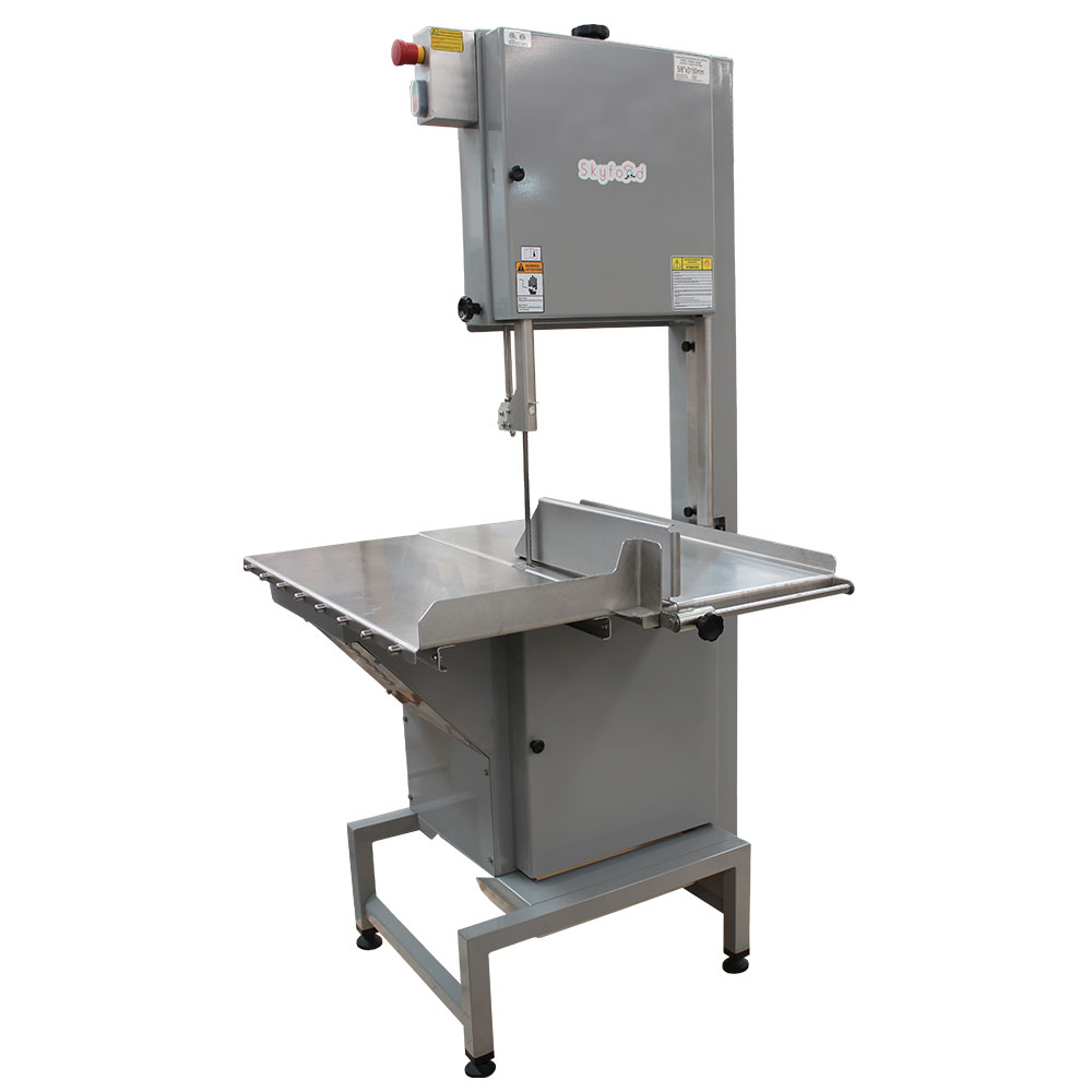 Fleetwood SKGE Floor Model Meat & Bone Saw w/ 124-in Blade, Sliding & Stationary Table, Steel, ETL