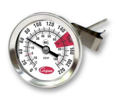 Cooper Instrument 2237-04-8 Espresso Thermomter, 1-3/4 in