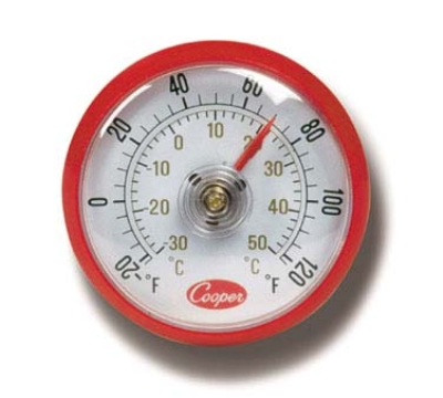 Cooper Instrument 535-0-8 Refrigerator Freezer Milk & Walk-In Cooler Thermometer, -20 To 120-Degrees F