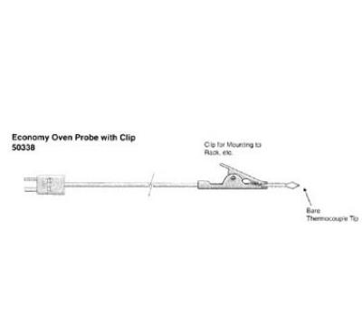 Cooper Instrument 50338-K Oven Probe w/ Clip, 32 To 896-Degrees F