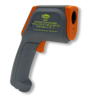 Cooper Instrument 423-0-8 Gun Style Infrared Thermometer w/ Range Laser, -76 To 1157-Degrees F