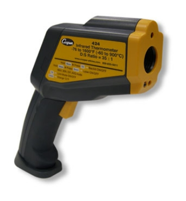 Cooper Instrument 424-0-8 Gun Style Infrared Thermometer, -76 To 1600-Degrees F