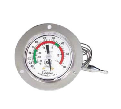 Cooper Instrument 6142-20-3 5-oz Dual Scale Dial Thermometer w/ 3-in Front Flange, -40 To 60-Degrees F