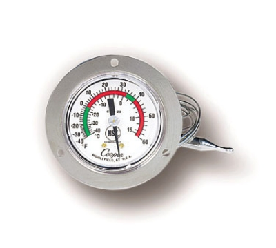 Cooper Instrument 6142-58-3 Dual Scale Dial Thermometer w/ 3-in Front Flange, -40 To 60-Degrees F