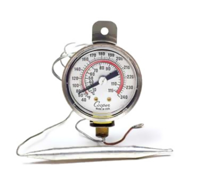 Cooper Instrument 6642-12-3 2-in Panel Type Thermometer, 40 To 240-Degrees F