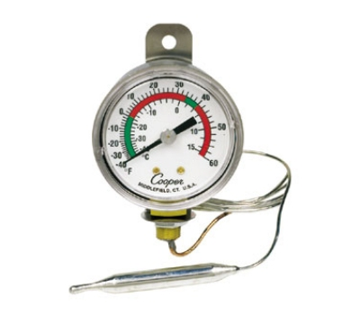 Cooper Instrument 6642-06-3 2-in Panel Type Thermometer, -40 To 60-Degrees F