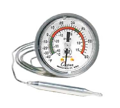 Cooper Instrument 6742-19-3 2-in Panel Type Thermometer w/ U-Bracket, 40 To 240-Degrees F