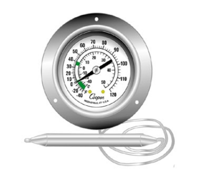 Cooper Instrument 6812-02-3 2-in Panel Type Thermometer w/ Ba
