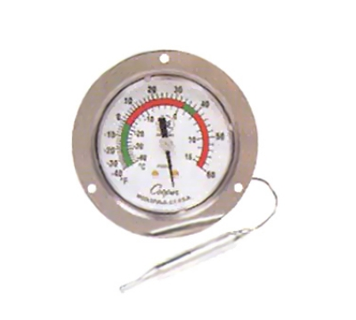 Cooper Instrument 7112-01-3 2.5-in Panel Type Thermometer w/ Front Flange, -40 To 60-Degrees F, NSF