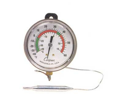Cooper Instrument 7612-06-3 2.5-in Panel Type Thermometer w/ Front Flange, 40 To 60-Degrees F