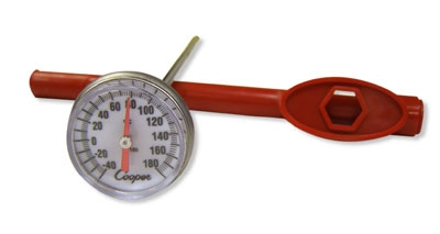 Cooper Instrument CT180-51-6 Pocket Test Thermometer, -40 To 180-Degrees F