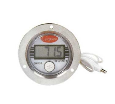 Cooper Instrument DM120-0-3 Panel Type Thermometer w/ Front Flange Case, -40 To 120-Degrees F