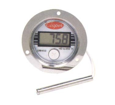 Cooper Instrument DM450-0-3 Panel Type Thermometer w/ Front Flange Case, -40 To 450-Degrees F